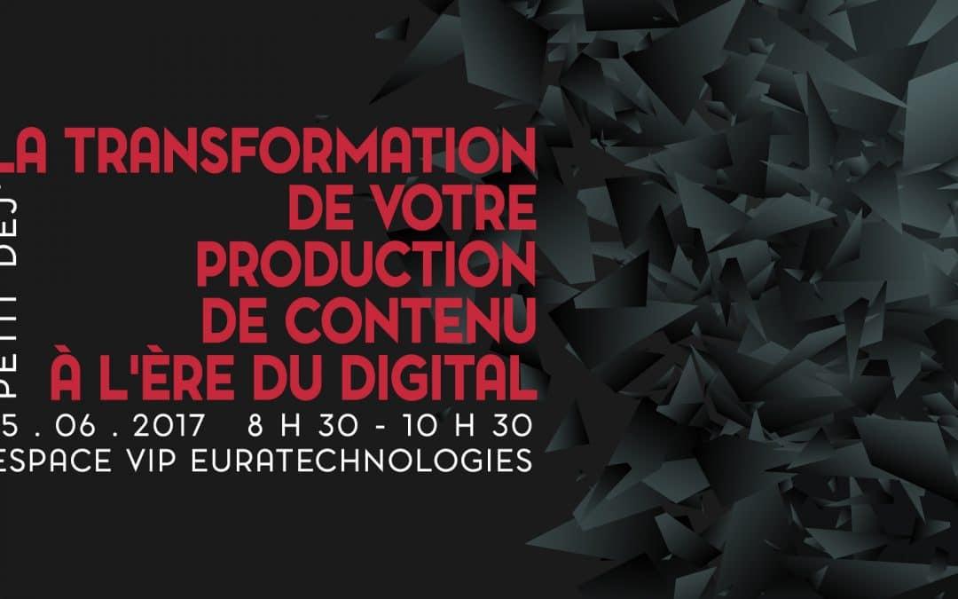Petit-déjeuner J2S : La transformation de la production du contenu à l'ère du digital