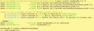 Bower Install Backbone